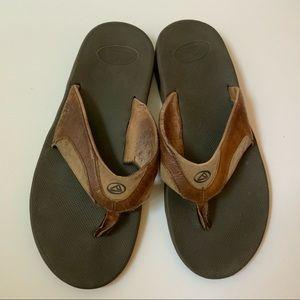 Men's Reef Tan and Brown Flip Flop